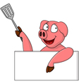 Pig chef cartoon character vector