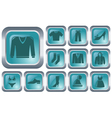 Clothes buttons vector