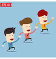 Businessman run together - - eps10 vector