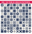 100 seamless patterns background collection vector