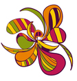 Abstract hand draw strange flower style figure vector