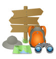 Camping accessories concept vector