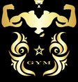 Gym and fitness symbol vector