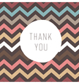 Thank you card zigzag vector