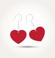 Love heart couple earring vector