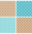 Abstract lacy seamless patterns vector