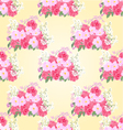 Seamless texture bouquet of roses and orchid vector