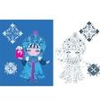 Snow maiden russian style vector