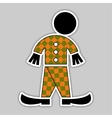 Sticker - fall green and orange figure vector