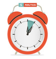 Five minutes stop watch - alarm clock vector
