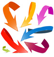 3d colorful arrows set isolated on white vector