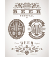 Beer emblems and labels - vector