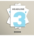 Set of brochures with number on title page vector