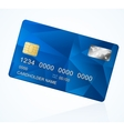 Credit card blue vector