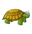 Green cartoon turtle with yellow spots vector