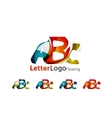 Abc company logo set vector