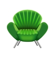 Green armchair on white background vector