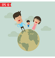 Cartoon happy family - - eps10 vector
