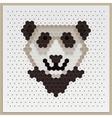 Mosaic panda vector