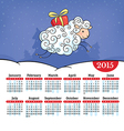 Year of the sheep calendar vector