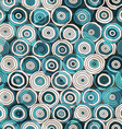 Blue circles seamless pattern with glass effect vector