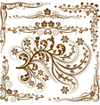 Decorative corners and ornaments vector