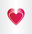 Hands stealing heart concept st valentine symbol vector