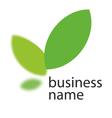 Ecology green logo vector