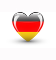 Heart-shaped icon with national flag of germany vector