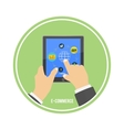 E-commerce infographic concept of purchasing vector