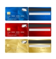 Credit card set two sides vector