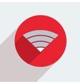 Mosern flat wifi circle icon vector