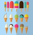 Flat design ice cream colletcion vector