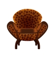 Chair in leopard-print upholstery vector