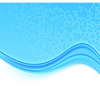 Transparent folder with a blue wave vector