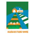 Agriculture emblem for the eco farm vector