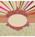 Vintage sun burst card vector