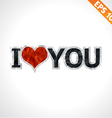 Label i love you paper texture sticker tag - vector