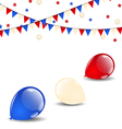 Colorful balloons in american flag colors vector