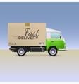 Delivery car vector