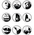 Nautical elements iii icons in knotted in black vector