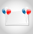Celebration card with balloons for independence vector