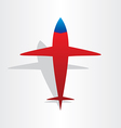 Plane airplane flying symbol vector