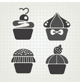 Cakes symbols vector