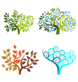 Abstract tree - graphic element - four seasons vector