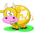 Yellow cow vector
