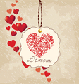 Romantic background valentines day vector