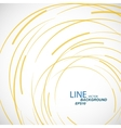 Abstract color line and circle background vector