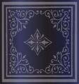 Vintage border background antique ornament blue vector