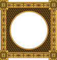 Traditional wooden frame vector